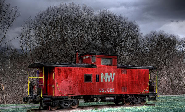 N W Caboose Print by Todd Hostetter