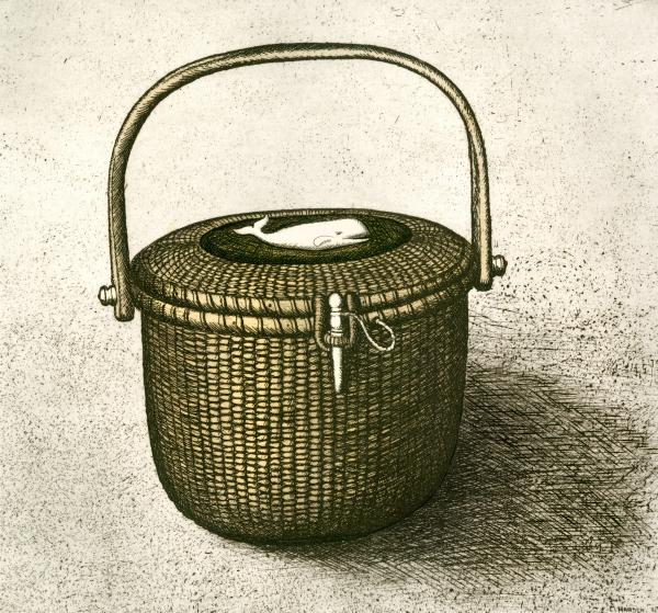 Nantucket Basket Print by Charles Harden