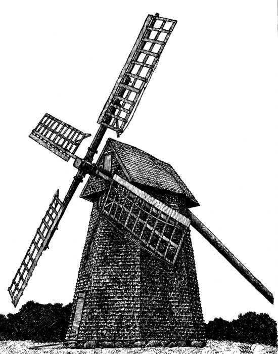 Dan Moran - Nantucket Windmill Number One