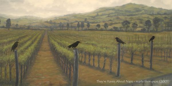Napa Ravens Painting