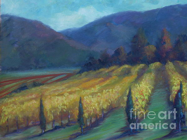 Napa Valley View From The Castle Print by Deirdre Shibano