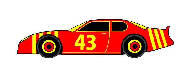 Nascar Winner Virtual Car Print by Asbjorn Lonvig