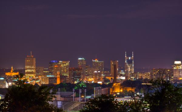 Nashville By Night 3 Print by Douglas Barnett