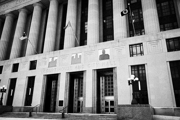 Nashville City Hall Davidson County Public Building And Court House Tennessee Usa Print by Joe Fox