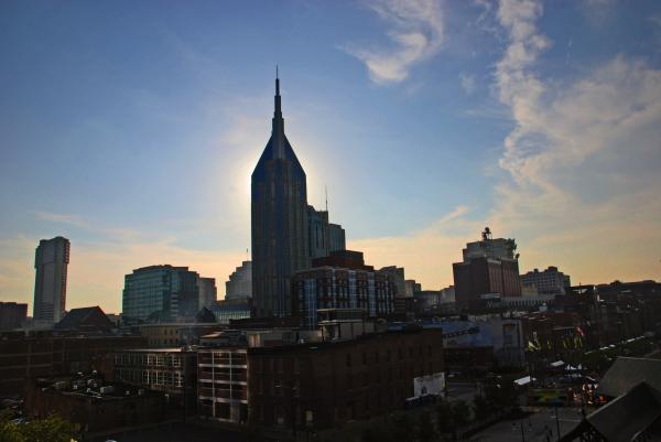 Nashville Skyline Print by Susanne Van Hulst