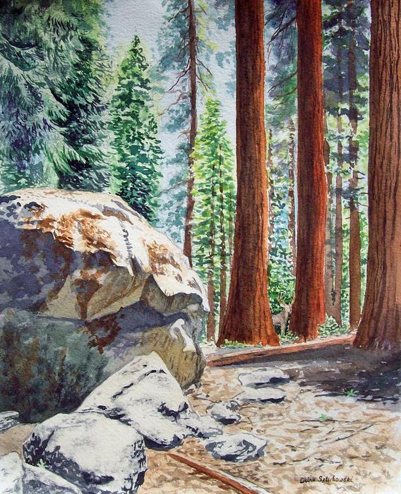 National Park Sequoia Print by Irina Sztukowski