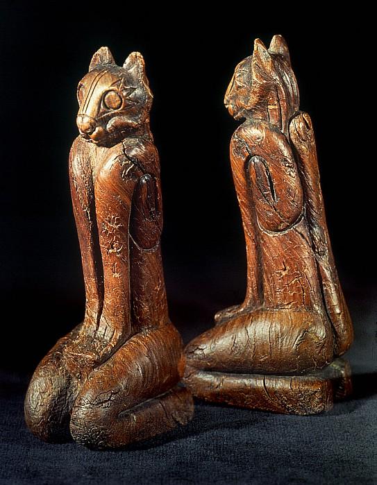 Native American Carvings Print by Granger
