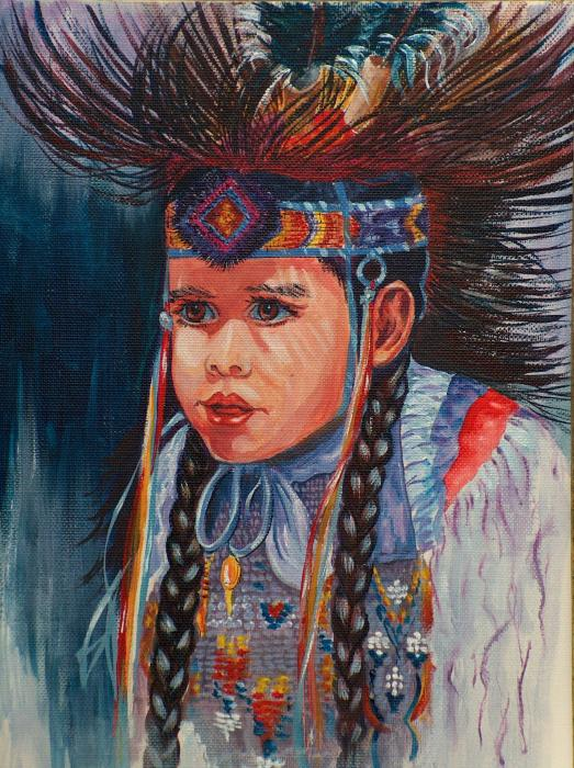 Native American Dance Painting by Sylvia Stone - Native American ...