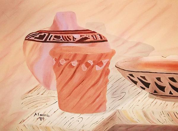 Native American Pottery Print by Alanna Hug-McAnnally