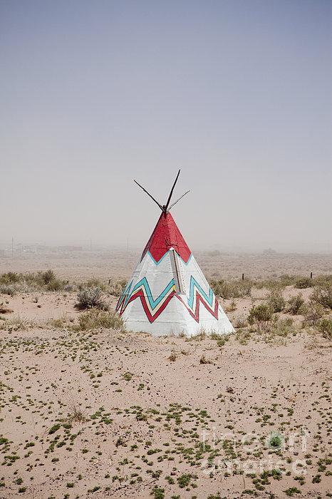 Native American Tipi Replica Print by Paul Edmondson