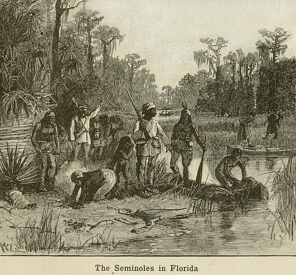 Natives Of Many Southeastern Tribes Print by Everett