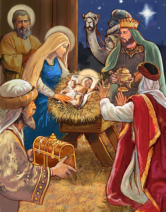 Nativity Print by Valerian Ruppert