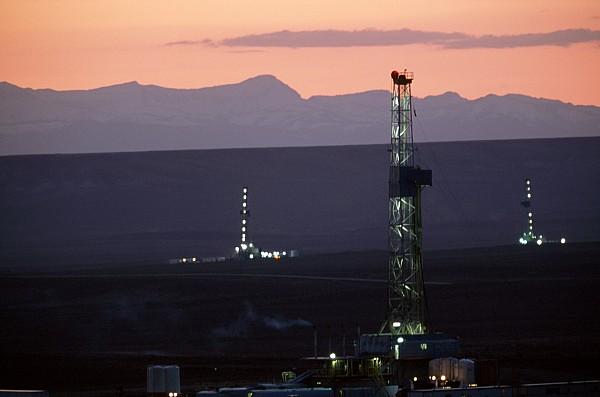 Natural Gas Drilling Rigs Dot Print by Joel Sartore
