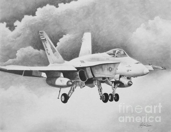 Navy Hornet Print by Stephen Roberson