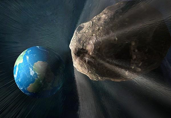 Near-earth Asteroid, Artwork Print by Henning Dalhoff