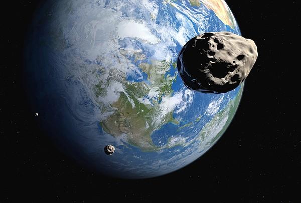 Near-earth Asteroids, Artwork Print by Detlev Van Ravenswaay