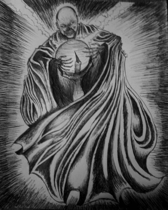 Necro-feel-ya Print by Alexander Holmes