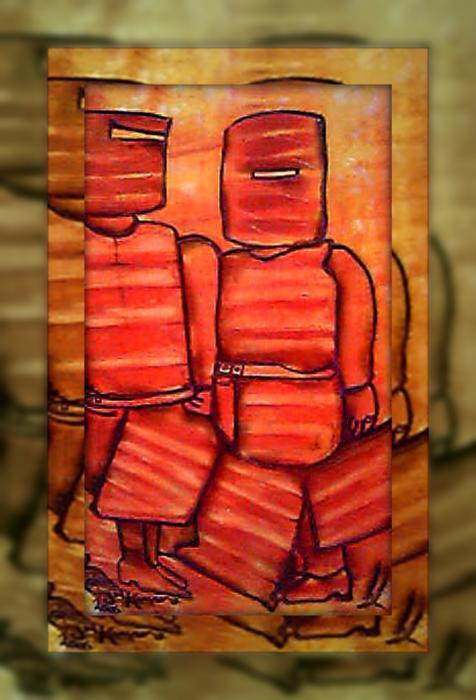 Ned Kelly Art - Sunset Killers Print by Joan Kamaru