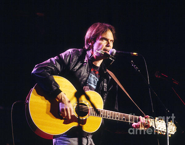 Neil Young 1986 Print by Chris Walter