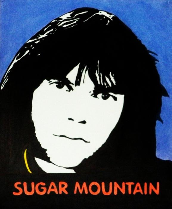 Neil Young Sugar Mountain Print by Kenneth Regan