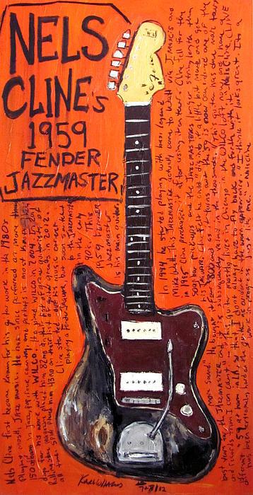 Nels Cline Fender Jazzmaster Print by Karl Haglund