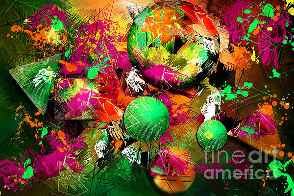 Renee Dawson - Neon Ink - Abstract Art