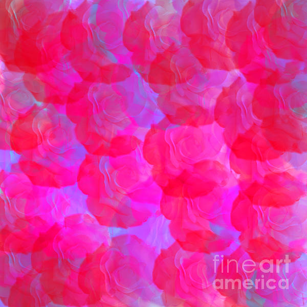 Neon Roses Print by Susan Stevenson