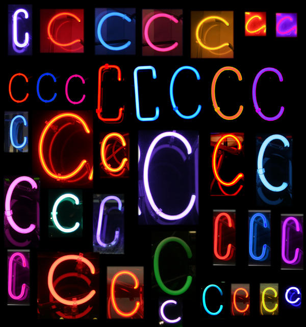 Neon Sign Series Featuring The Letter C Print by Michael Ledray