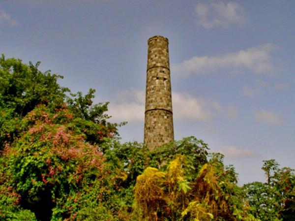 Nevis Sugar Mill II Print by Louise Fahy