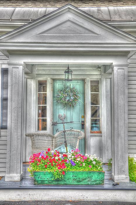 New England Doorway Print by Lisa Goddard