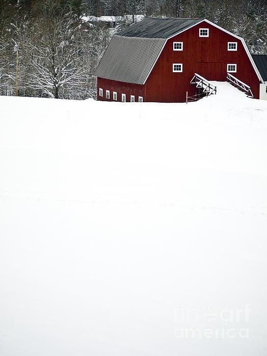 New England Winter Print by Edward Fielding