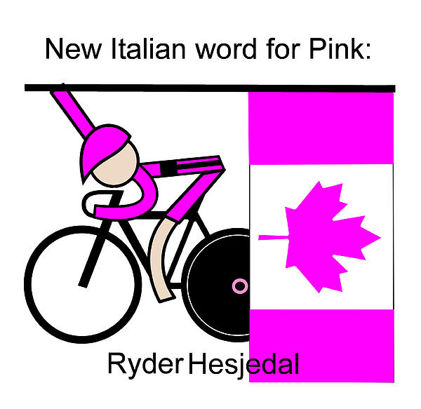 New Italian Word For Pink Print by Asbjorn Lonvig