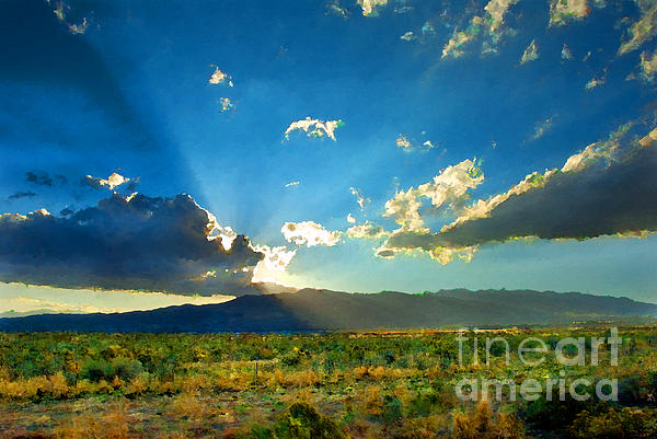 New Mexico Desert Print by Betty LaRue