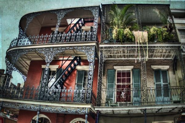 New Orleans Balconies No. 4 Print by Tammy Wetzel