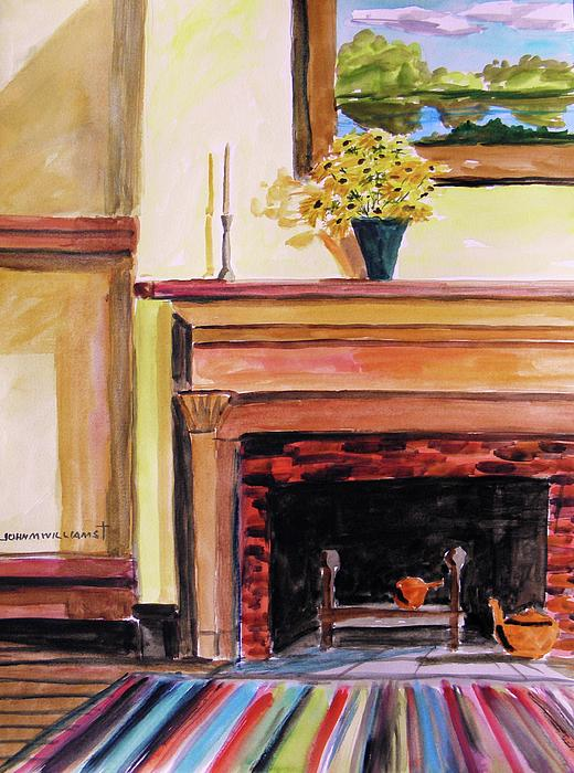 New Painting Over The Mantel Print by John  Williams