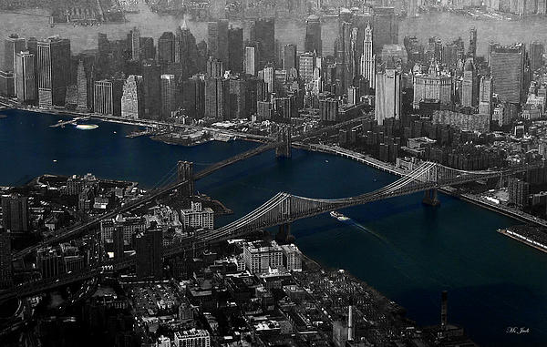 New York Aerial Print by Ms Judi