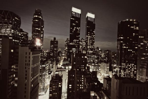 New York After Dark Print by Ariane Moshayedi