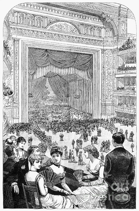 New York Charity Ball, 1884 Print by Granger