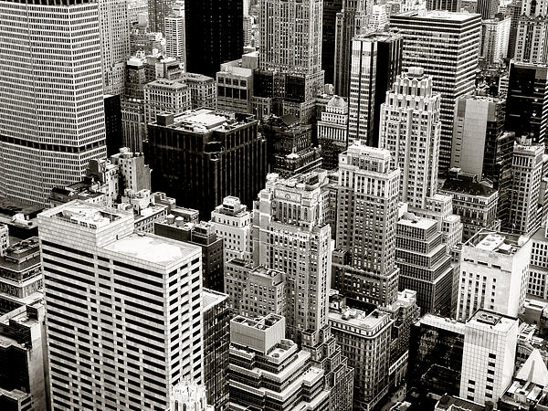 New York City From Above Print by Vivienne Gucwa
