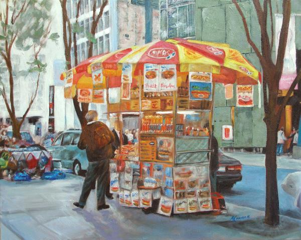 New York City Red Hots Painting