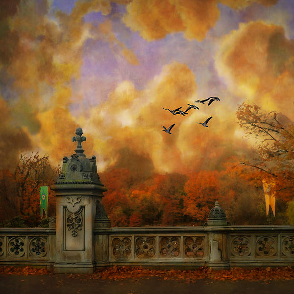 New York Fall - Central Park Print by Jeff Burgess