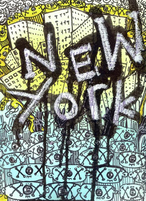 New York Graffiti Scene Print by Robert Wolverton Jr