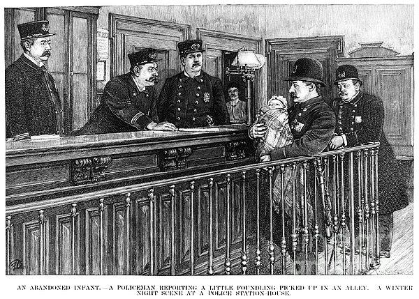 New York: Police Station Print by Granger