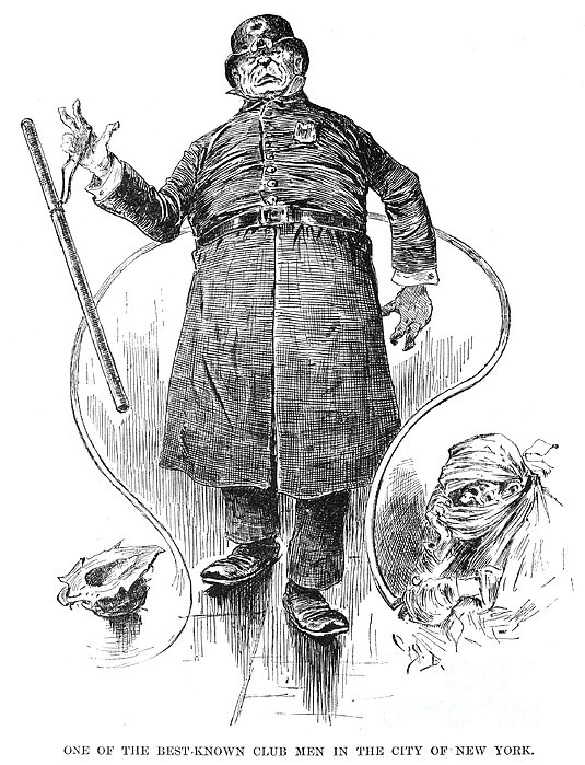 New York Policeman, 1890 Print by Granger