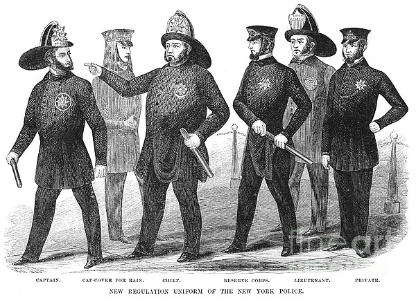 New York Policemen, 1854 Print by Granger