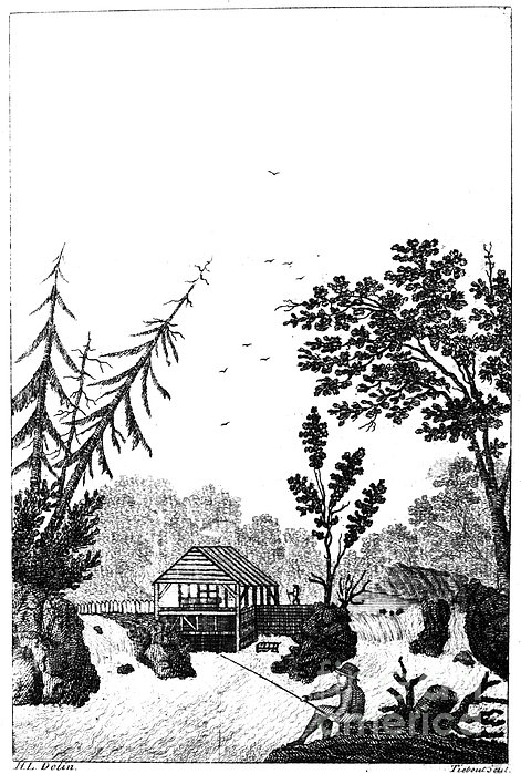 New York: Saw Mill, 1792 Print by Granger