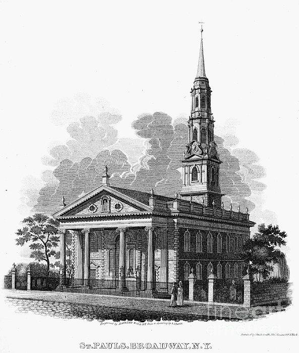 New York: St Pauls Church Print by Granger
