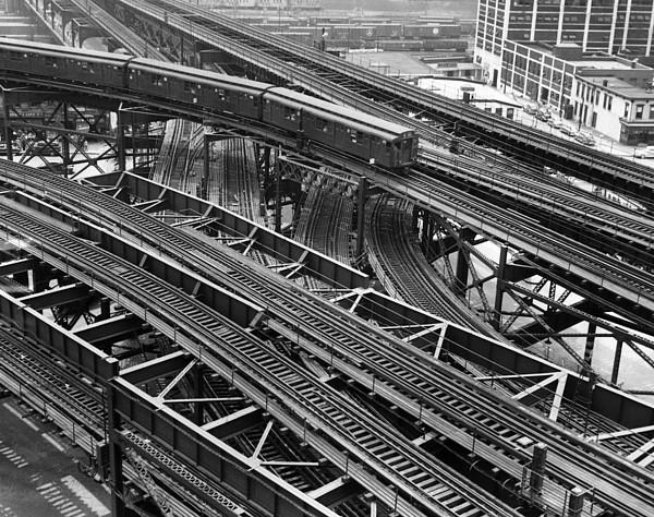 New York Subway Train Tracks Print by Everett