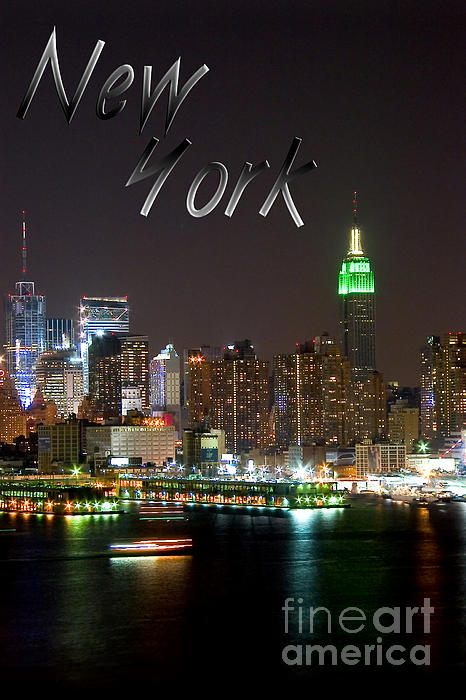 New York Print by Syed Aqueel