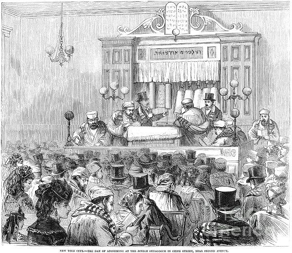New York Synagogue, 1871 Print by Granger
